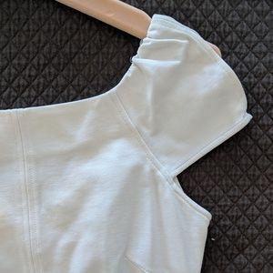 DVF white stretchy bodycon dress, NWT, size 0